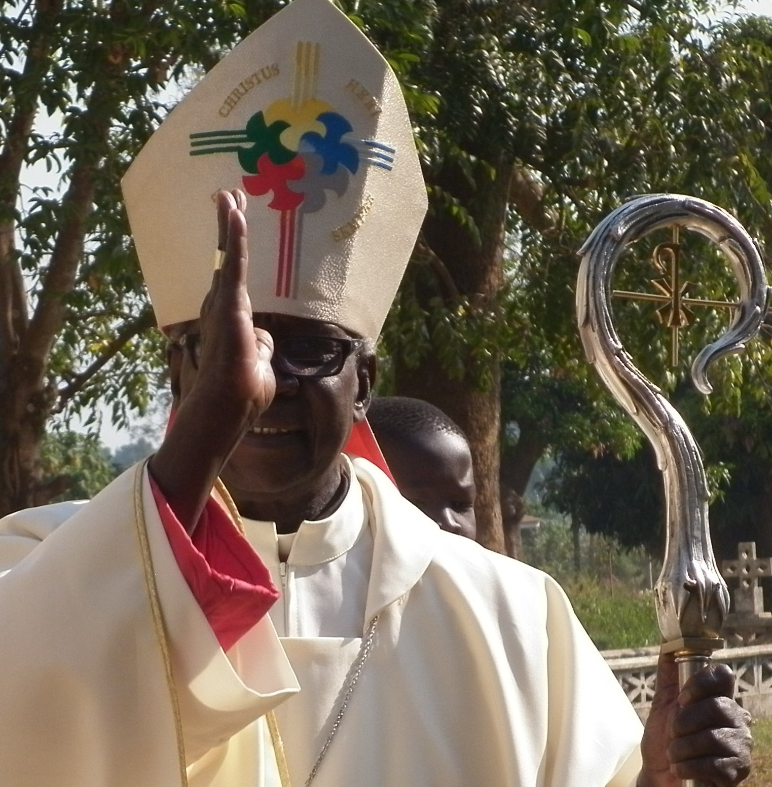 Bishop Erkolano Lodu Tombe in a mass procession on new year day sunday