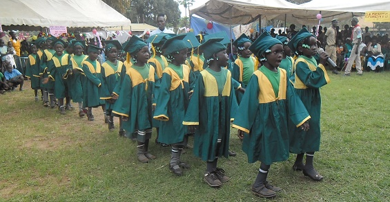 Pupils of Christ the King Nursery graduating 1
