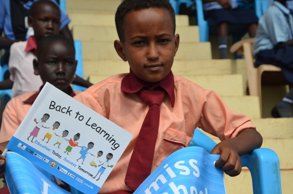 Some of the children who attended the launch of the 'Back to Lraning' programme by President Salva Kiir.